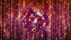 Golden disco ball music video and show background Stock Footage