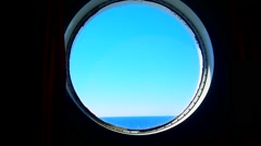 Porthole of a Ocean Liner Stock Footage