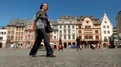 Timelapse 4K Mainz's Market Square Mainz Rheinland-pfalz Rhineland-Palatinate Stock Footage