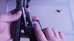 Gun assembly CSI Gun Stock Footage