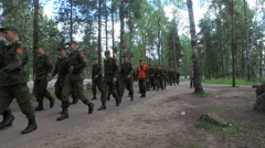 Russian army soldiers go to school for combat training Stock Footage