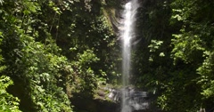 Waterfall in Peru near Tarapoto in Rain forest Stock Footage