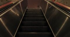 Entrance escalator luxury resort lobby POV DCI 4K Stock Footage