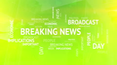 Breaking news tags concept background Stock Footage