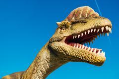 Dilophosaurus in Novi Sad Dino Park Stock Photos