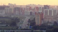 Evening city. Stock Footage