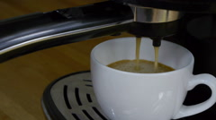 Coffee machine making black hot coffee Stock Footage