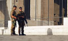 Anti-terrorism in Rome - stock photo