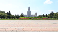 Moscow University on Sparrow Hills, Moscow Stock Footage