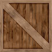 Wood crate generated hires texture - stock illustration