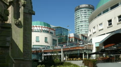 Birmingham Bull Ring and Rotunda. Stock Footage