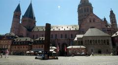 Timelapse 4K Dom Cathedral Mainz's Market Square Mainz Rheinland-pfalz Stock Footage