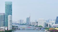 Viewof the riverside in Bangkok Stock Footage