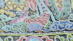 China National Traditional embroidery Stock Footage