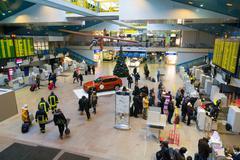 Vilnius airport Stock Photos