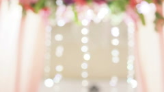 Holiday Blurred abstract motion background, bokeh. Gray color bokeh defocused Stock Footage