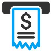 Cheque Payment Flat Vector Icon Stock Illustration