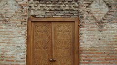 Beautiful door in old Tbilisi. Handheld shoot. TBILISI, GEORGIA  Stock Footage