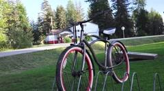 Mid town Gustavus, Alaska Bike Stock Footage