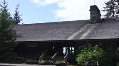 Entrance ,Glacier Bay National Park , lodge visitors center Stock Footage