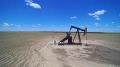 Oil pumper aerial  Stock Footage