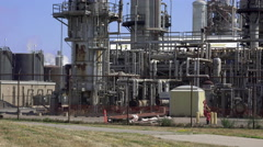 Small section of Lubricants Refinery Stock Footage