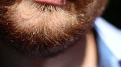 Red Beard close-up Stock Footage
