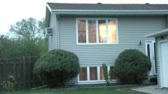 House Lights Turning Off - Establishment Shot Stock Footage