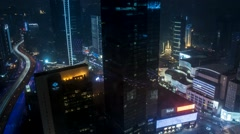 Shanghai Jing'an district timelapse Stock Footage