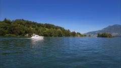 Shoreland on Lake Lucerne, Switzerland, Europe Stock Footage
