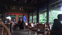 Dining room ,Glacier Bay National Park , lodge visitors center Stock Footage