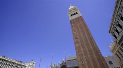 Piazza San Marco with Campanile Stock Footage