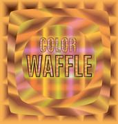 Colored waffles one after the other Stock Illustration