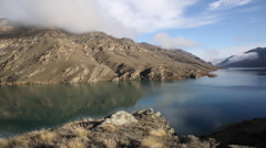 Lake Dunstan New Zealand, cloud time lapse Stock Footage