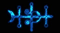 Alchemy Symbol #3 Stock Footage