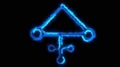 Alchemy Symbol #10 Stock Footage
