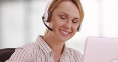 Friendly customer service representative - stock footage
