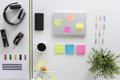 Colors are helpful for organizing - stock photo