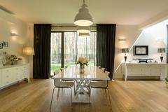 Minimalist dining room - stock photo