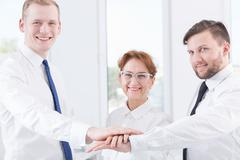 Building team relationship Stock Photos