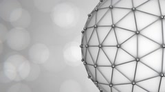 Corporate Triangular Ball Background Loop with bokeh Stock Footage