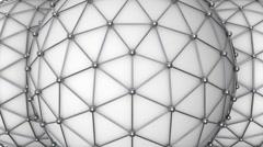 Triangular molecule ball loop Stock Footage