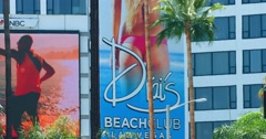 Billboard advertising on Sunset Strip on Sunset Boulevard, Los Angeles 4K RAW Stock Footage