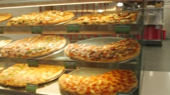 Pizza Nova Interior Food Chain Store Stock Footage