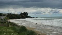 New Zealand Kaka Point headland Stock Footage