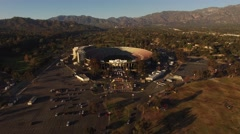 "Aerial ""Push Into"" The Rose Bowl in Pasadena, California Stock Footage"