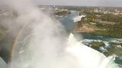Niagara Falls, Horseshoe Falls, Canada, United States Stock Footage