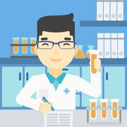 Laboratory assistant working vector illustration Stock Illustration