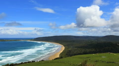 New Zealand Catlins Tautuku Bay with cloud Stock Footage