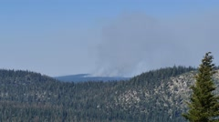 Wild fire near Mammoth Lake Stock Footage